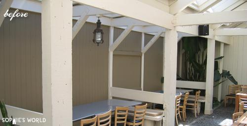 Transform a deck with fabric|before|sophie-world.com