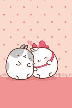 Two kawaii bunnies in love sophie-world.com