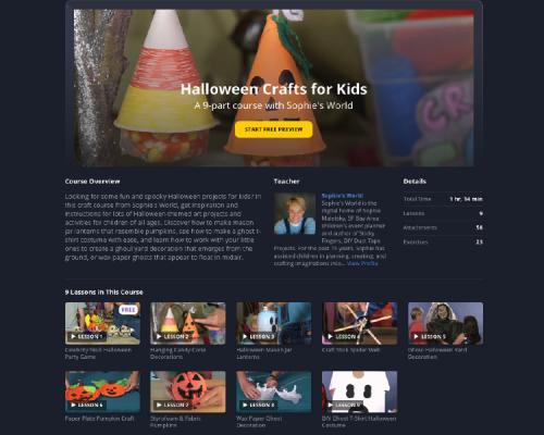 halloween craft course at curious.com|sophie-world.com