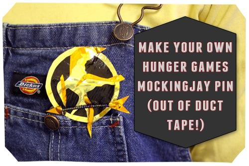 A DIY Mockingjay pin from duct tape at sophie-world.com