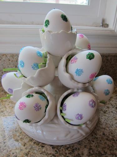 No Mess Glitter Eggs|sophie-world.com