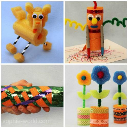 pool noodle craft collage | sophie-wiorld.com