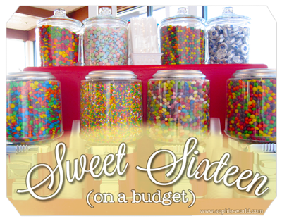 A Budget Friendly Sweet Sixteen Party