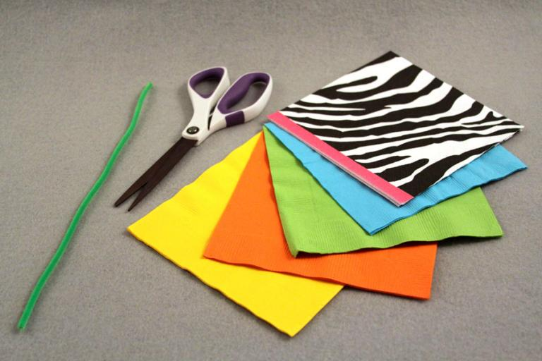 How to make a paper napkin flower scissors mightylinksfo