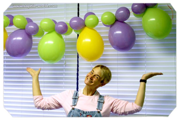 Air filled balloons make great lanterns