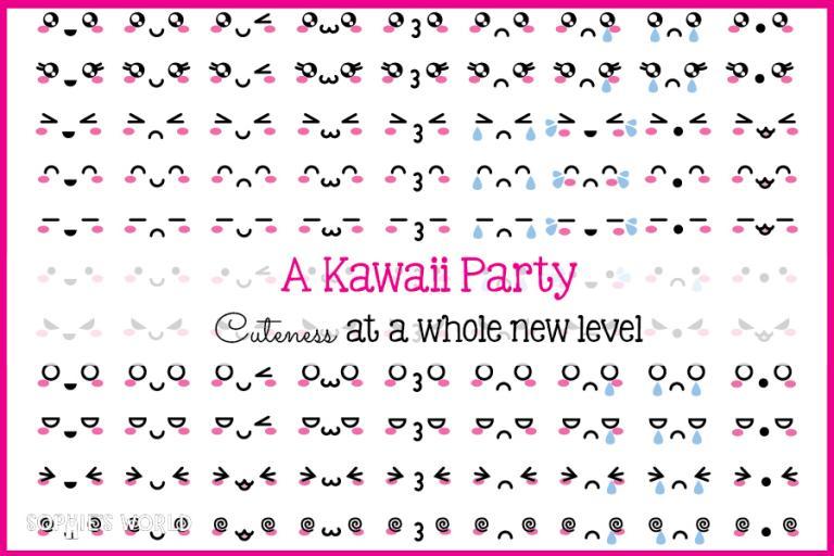 "A ""Cute"" Party Kawaii sophie-world.com"