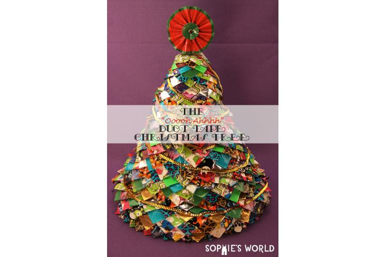 Duct Tape Christmas Tree Final|sophie-world.com