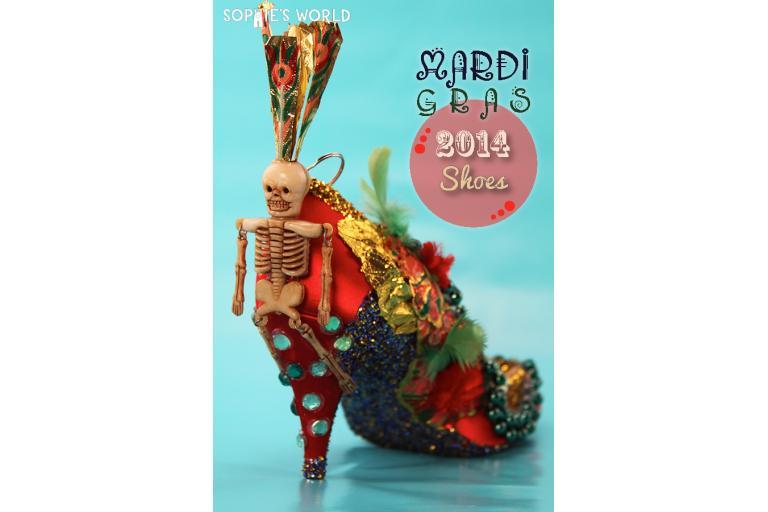 Mardi Gras Shoes 2014 Creations|sophie-world.com