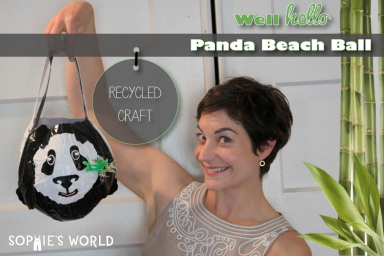 Recycled Panda Beach Ball|sophie-world.com