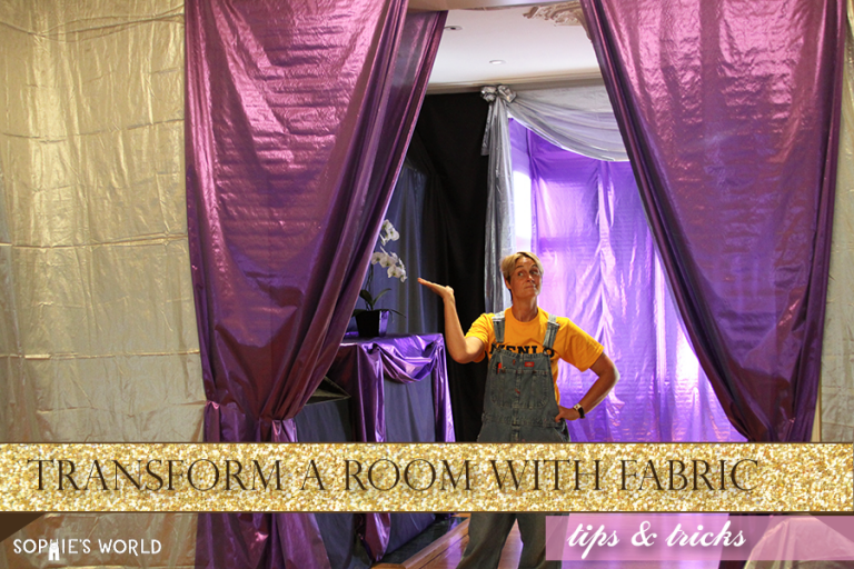 Transform a room with fabric|sophie-world.com