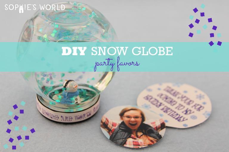 DIY Snow Globe Party Favors|sophie-world.com