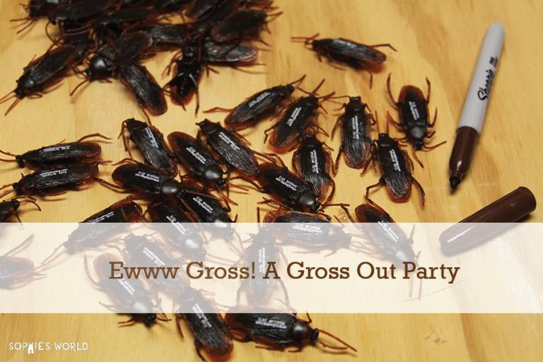 Eww Gross Out Party|Realistic Roaches|sophie-world.com