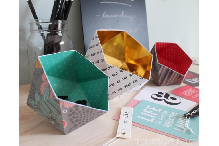 geometric paper bowls | sophie-world.com