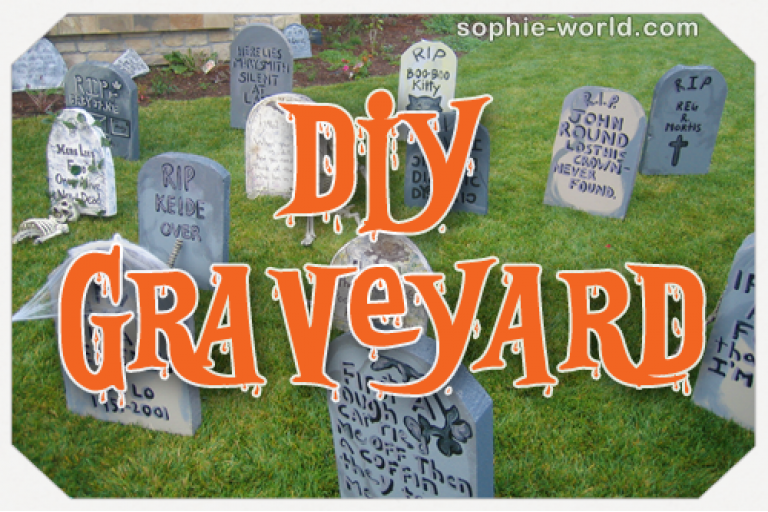 Make your own Halloween graveyard|sophie-world.com