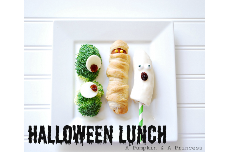 Cute Halloween food ideas from a pumpkin and a princess|sophie-world.com