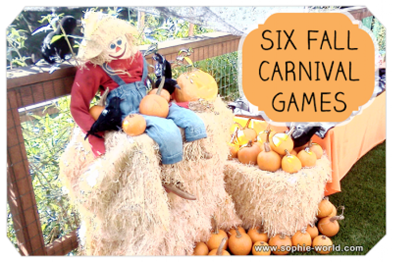 Six Great Fall Carnival Games for all ages|sophie-world.com