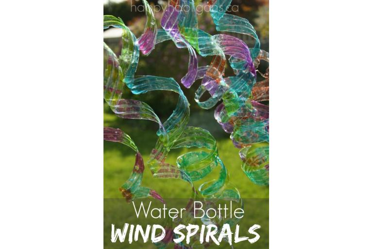 recycled wind spirals