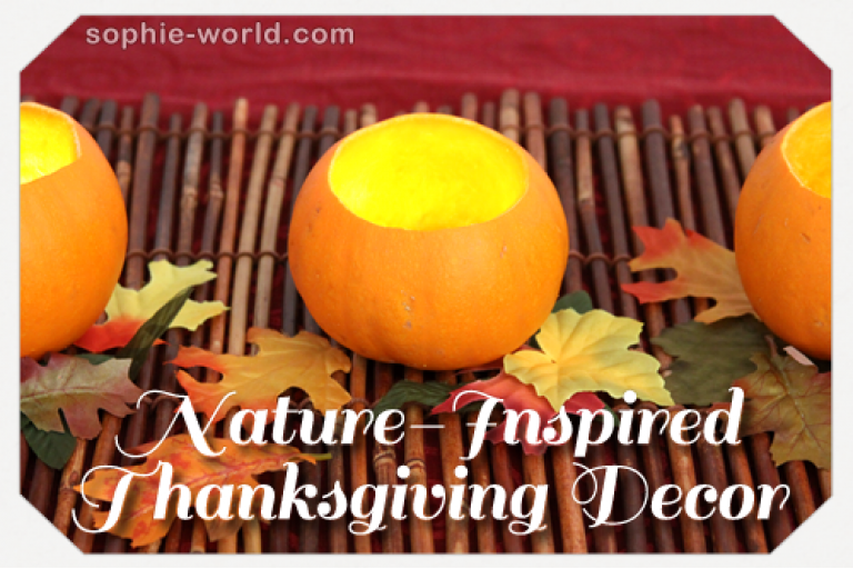 Nature Inspired Thanksgiving Decor|sophie-world.com