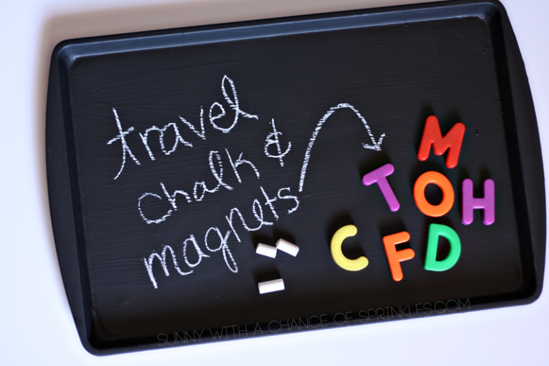 A magnetic board for travel from sunny with a chance of sprinkles via sophie's world