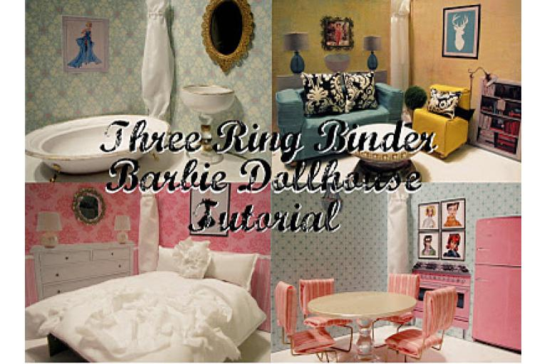 An adorable 3 ring binder dollhouse from Southern Disposition vis sophie's world