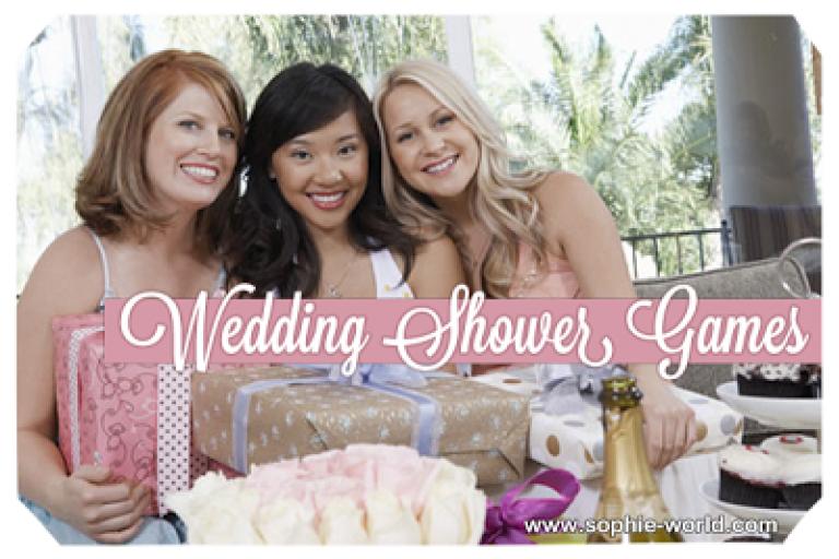 Wedding Shower games sophie-world.com
