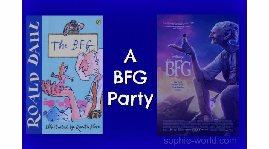 BFG party  sophie-world.com