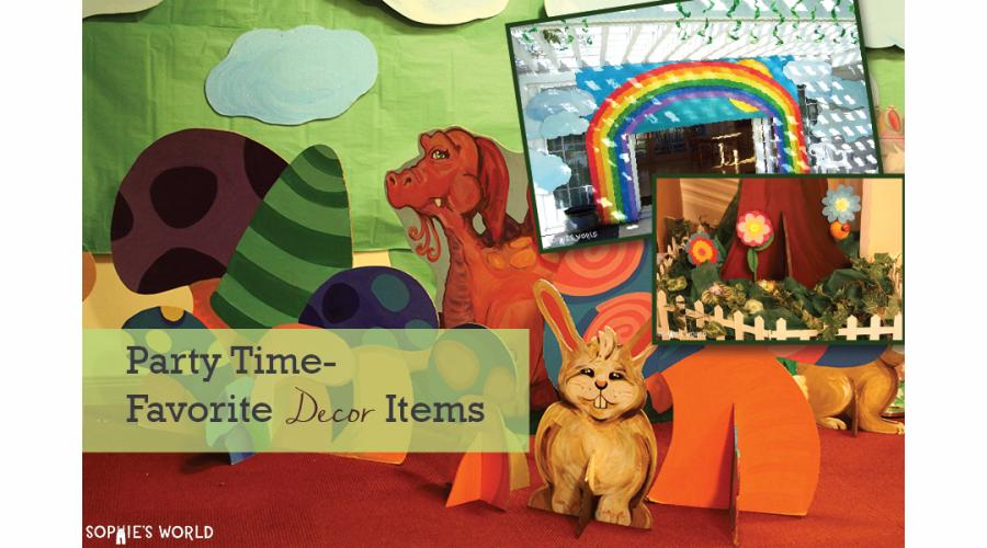 Party Time- My Favorite Decor Items|sophie-world.com