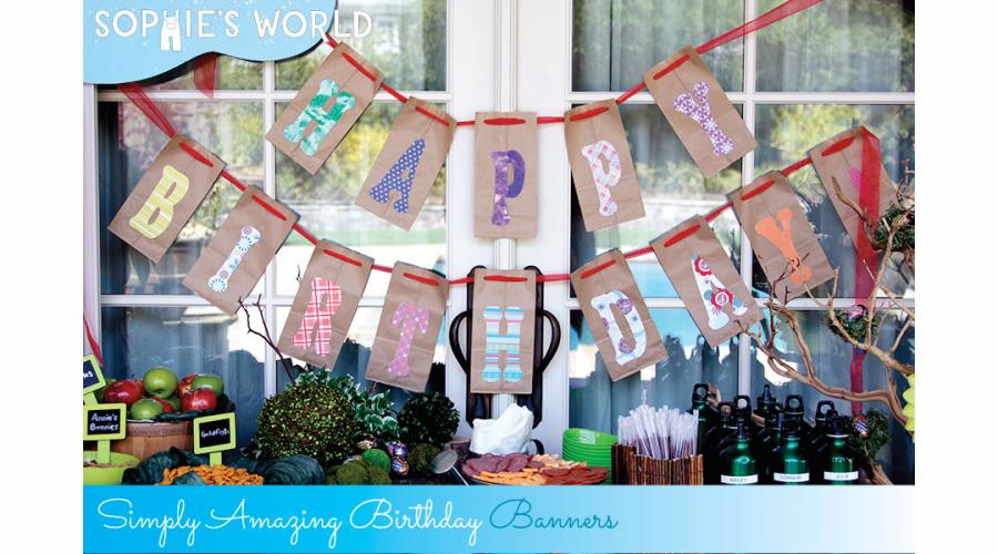 DIY Birthday Banners Sophies World