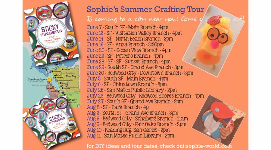 crafting tour update calendar sophie-world.com