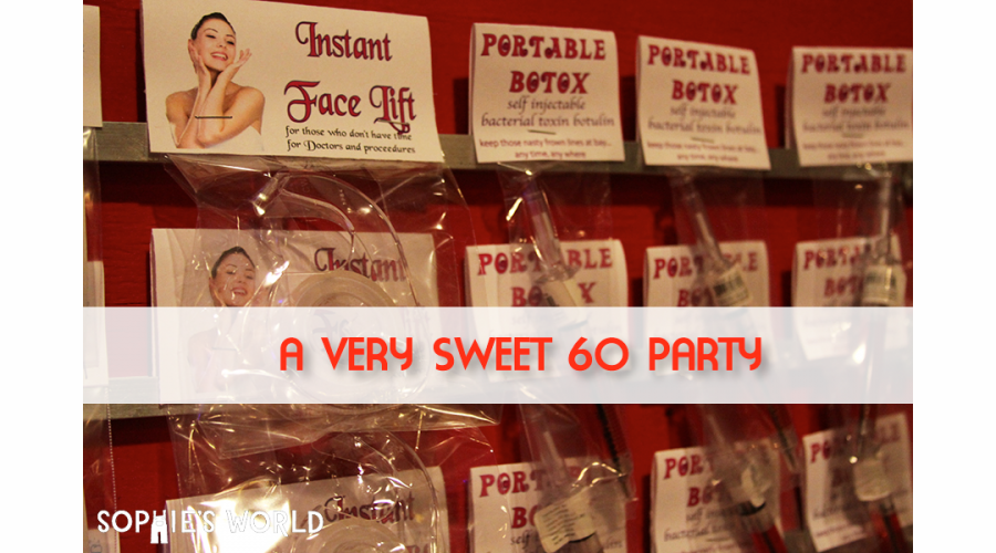 sweet 60 party|sophie-world.com