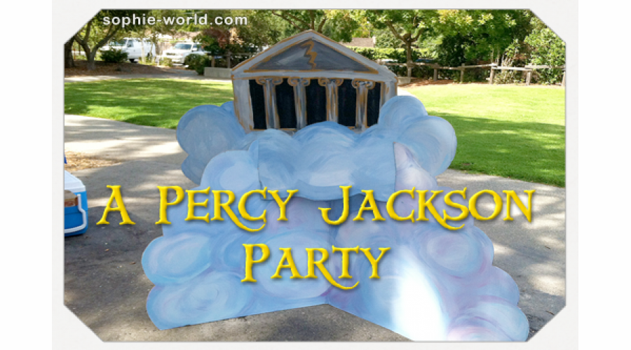 A Percy Jackson Party Sophie S World